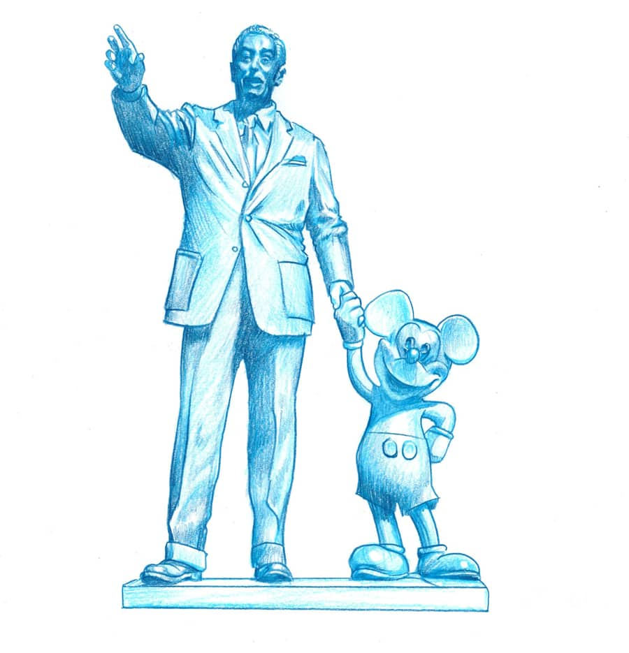 Park Icon Artist Sketch Collection To Debut New Walt Disney Inspired