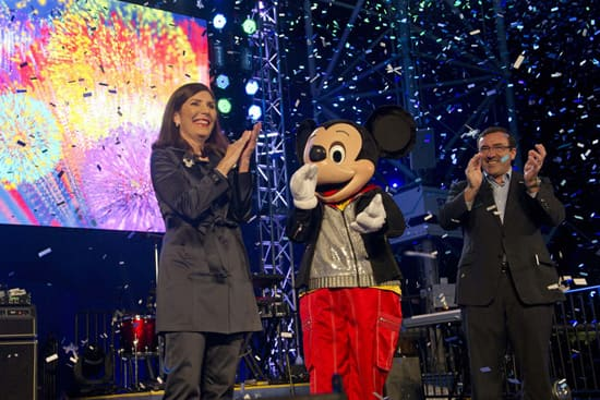 """Walt Disney World Resort's Meg Crofton and GM's Alan Batey Led an """"Accelebration!"""" During the Grand Opening of Test Track Presented by Chevrolet"""