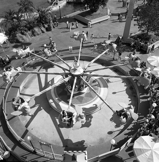 Dumbo the Flying Elephant at Magic Kingdom Park in 1973