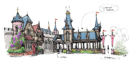 Fantasy Faire Architecture to Extend Fantasyland at Disneyland Park