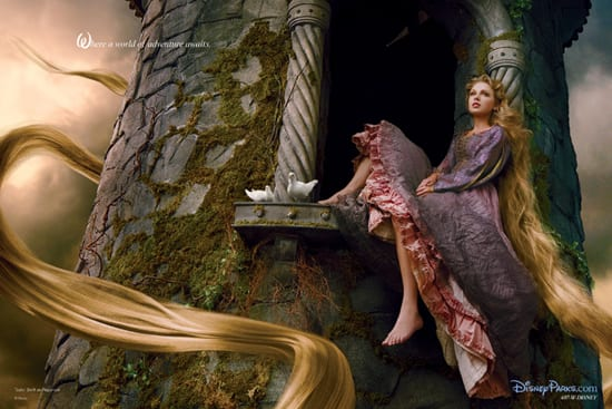 New Annie Leibovitz Disney Dream Portrait Featuring Taylor Swift as Rapunzel