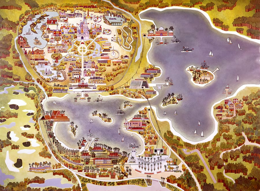 Vintage Walt Disney World: Old Maps of Walt Disney World ...