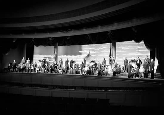Original Lineup of Presidents at The Hall of Presidents in Magic Kingdom Park, December 1971