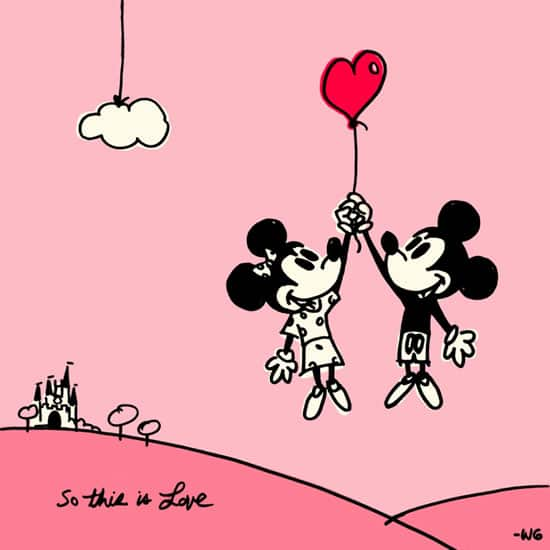 Download Our Mickey Minnie So This Is Love Wallpaper