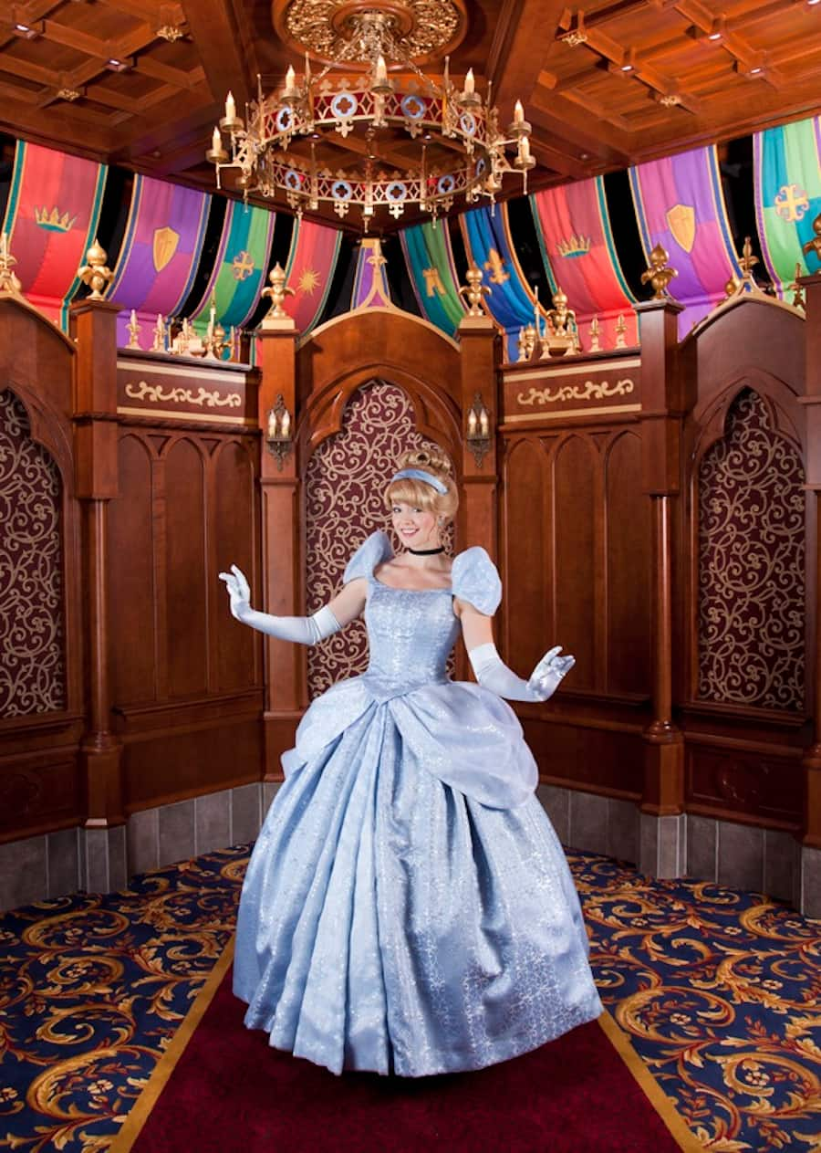 Cinderella and Rapunzel Visit Their New Homes at Fantasy Faire in Disneyland Park