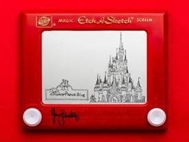 'Princess Etch A Sketch' Art by Jane Labowitch, Featuring Cinderella Castle