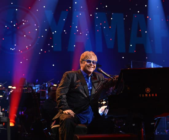 Elton Performs at the Hyperion Theater for Yamaha's 125th Anniversary Concert