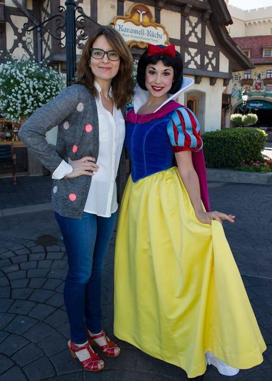 A Wonderful Day at Epcot with Snow White and Tina Fey