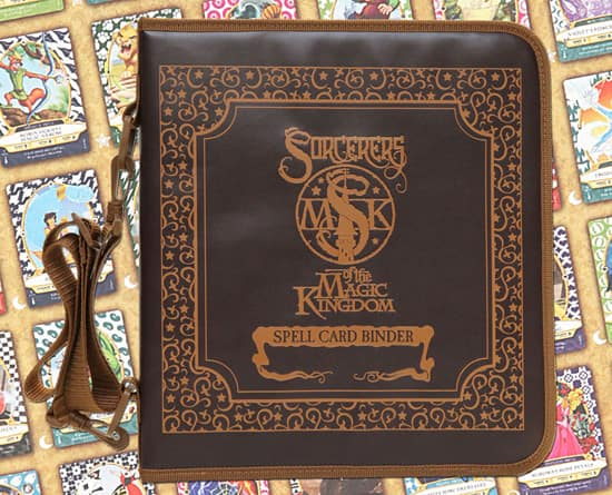 Sorcerers of the Magic Kingdom Spell Card Binder, Available at Magic Kingdom Park