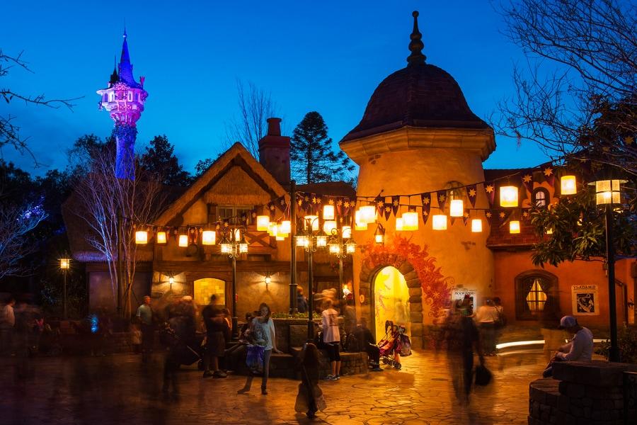 Disney Parks After Dark Rapunzel S New View At Magic Kingdom Park Disney Parks Blog