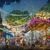 LAKE BUENA VISTA, Fla., March 12, 2013 – Disney Springs will blend the familiar with the unexpected throughout its four outdoor neighborhoods including the West Side (as shown in this conceptual rendering) which will provide an exuberant atmosphere with lively entertainment, along with a series of new elevated spaces that provide both shade and an overlook to the activity below.