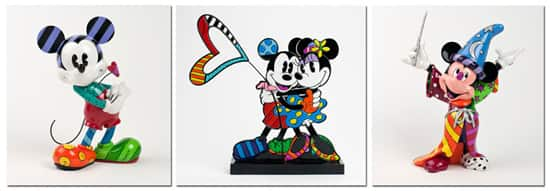Figurines by Pop Artist Romero Britto at Disney Parks