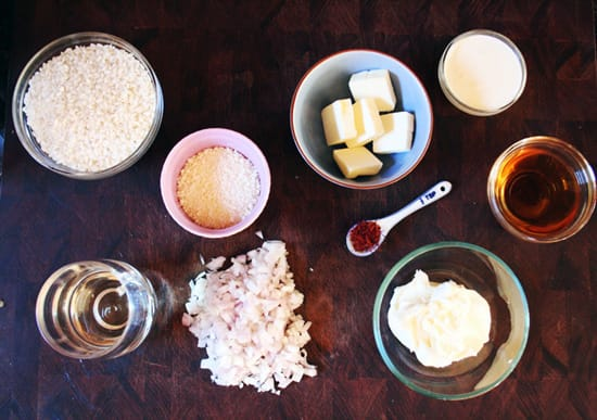 An At-Home Demonstration: Saffron Risotto Ingredients - Recipe for Disney Cruise Line's Osso Bucco