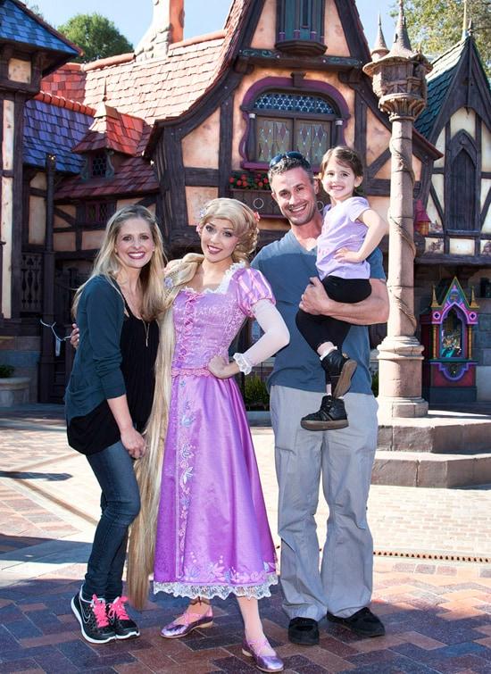 Sarah Michelle Gellar and Freddie Prinze, Jr., Preview Fantasy Faire at Disneyland Park