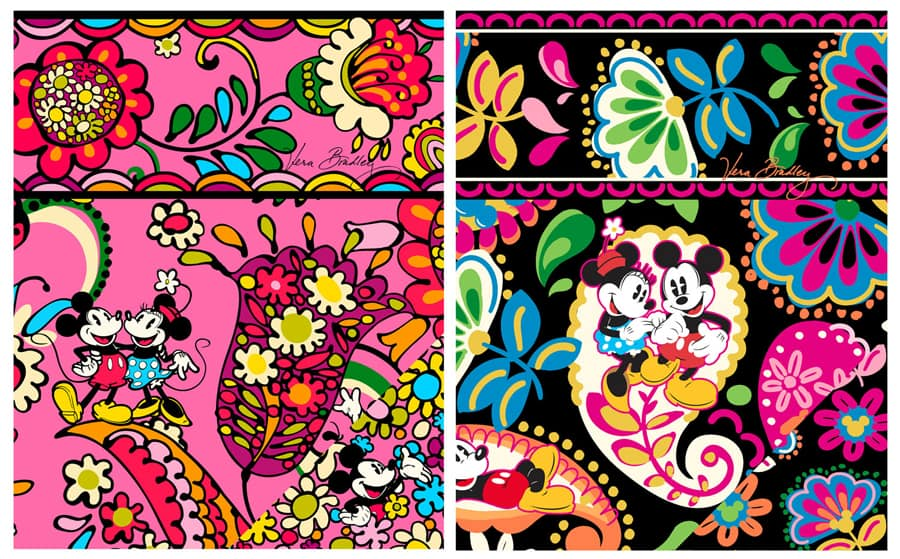 DisneyInspired Handbags And Accessories By Vera Bradley To Bloom Magnificent Vera Bradley Pattern Names