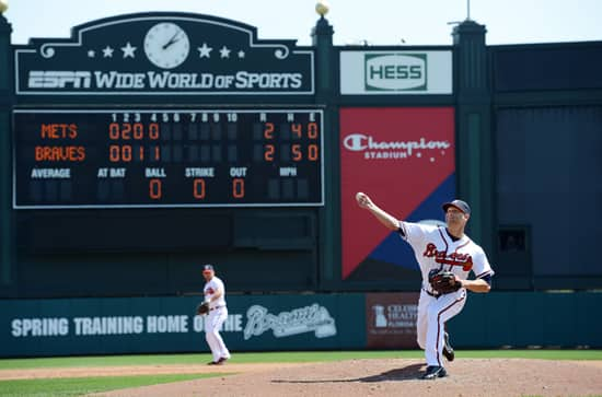 Veteran Pitcher Tim Hudson Was Back in Action for the Atlanta Braves at the ESPN Wide World of Sports Complex at Walt Disney World Resort
