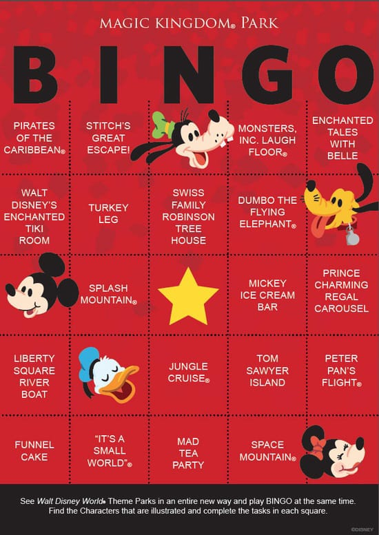 graphic about Disney Bingo Printable referred to as Disney Parks BINGO Playing cards Include a Entertaining Twist in direction of Park Outings