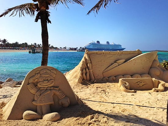 Sand Sculptures on the Beach at Disney's Castaway Cay