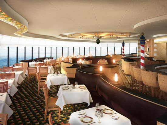 Adult-only Palo Restaurant on the Disney Magic