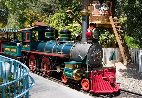E.P. Ripley, One of the Steam Engines of the Disneyland Railroad
