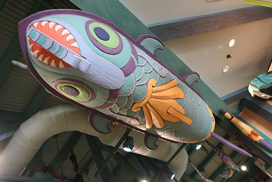 Playful Animals Fill the Sky Inside Island Mercantile at Disney's Animal Kingdom Theme Park