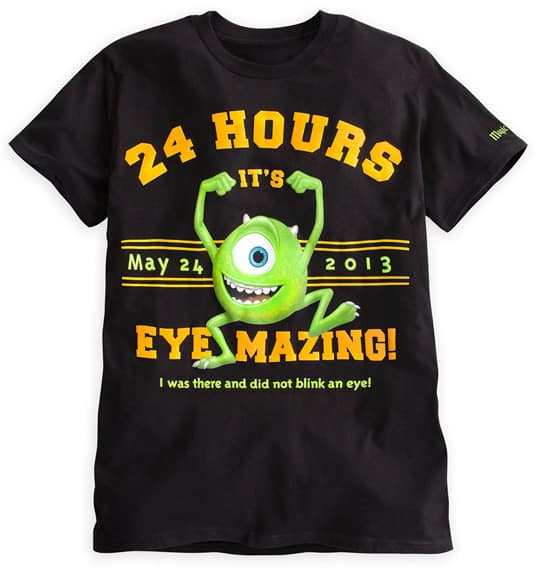 Logo Shirt Featuring Mike Wazowski, Part of the 'Eye-mazing' Merchandise for Monstrous Summer All-Night Party