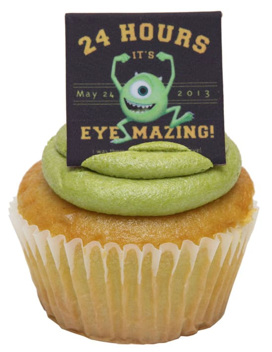 Special Mike Wazowski Cupcake Available at the Monstrous Summer All-Night Party