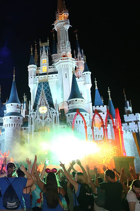 Disney Parks Blog Author Nate Visits the Monstrous Dance Party at Cinderella Castle