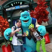 Sulley Greets Guests at Disney California Adventure Park During the Monstrous Summer 'All-Nighter'