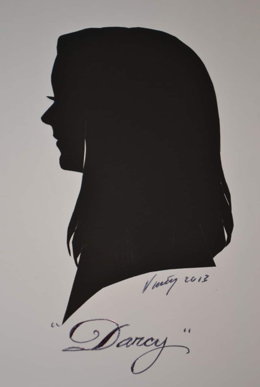 494895dedc4c8 Artist Vincent s Portrait of Author Darcy Clark at Silhouette Portraits at  the Downtown Disney Marketplace at