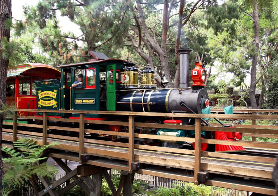 Fred Gurley, One of the Steam Engines of the Disneyland Railroad