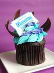 Special Eats Part of Monstrous All-Nighter Fun at Disney Parks, Featuring a Chocolate 'Monsters University' Cupcake