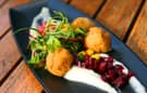 A Four-Course Dinner at the Golden Vine Winery in Disney California Adventure Park will Feature Cod Croquettes with Roasted Beetroot, Arugula and Skordalia