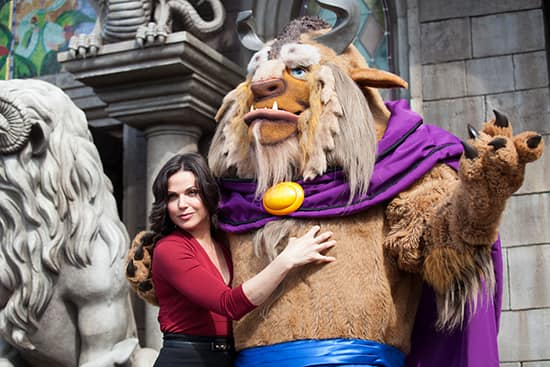 'Once Upon A Time's' Lana Parrilla Poses with Beast