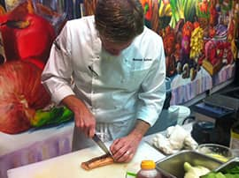 """Chef Andrew Sutton at the Skuna Bay Chef Challenge at the legendary """"Taste of Derby"""" in Kentucky"""