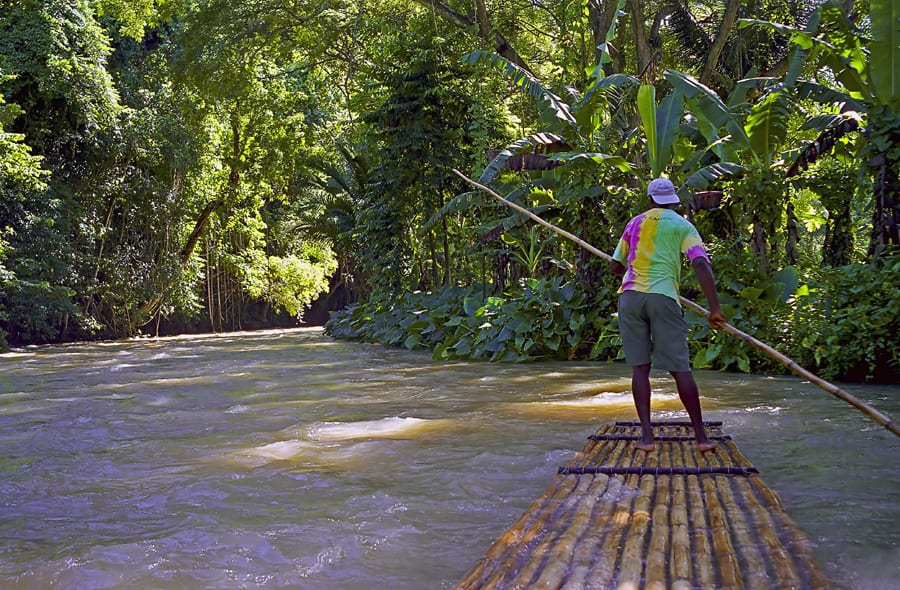 Bamboo Raft Captain for a Day with Disney Cruise Line Port Adventures in Jamaica