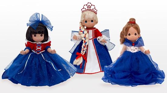 Patriotic Dolls from Linda Rick, Visiting Uptown Jewelers at Magic Kingdom Park in July
