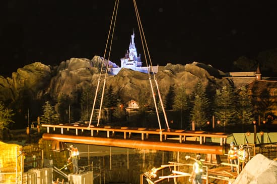 Track Completed at Seven Dwarfs Mine Train in New Fantasyland at Magic Kingdom Park