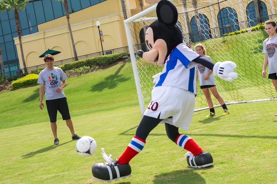 Soccer Star Kaka And Mickey Mouse Kick It At Espn Wide World Of Sports At Walt Disney World Resort Disney Parks Blog