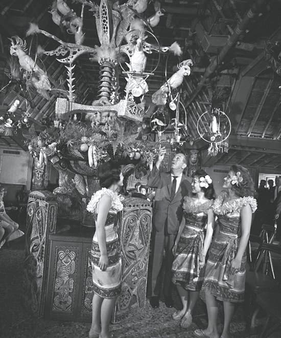 Walt Disney with Jose and Friends in the Tiki Room