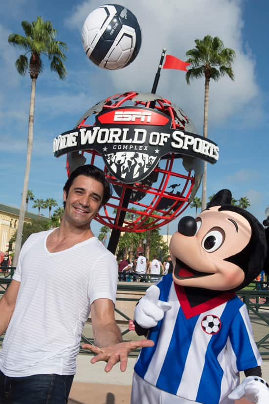 Actor Gilles Marini Gets His Kicks With Mickey at ESPN Wide World of Sports Complex