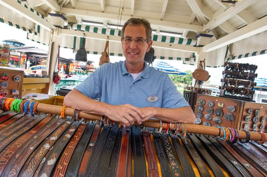 Dave Biebel and His Leather Belts, Available at Downtown Disney Marketplace at the Walt Disney World Resort