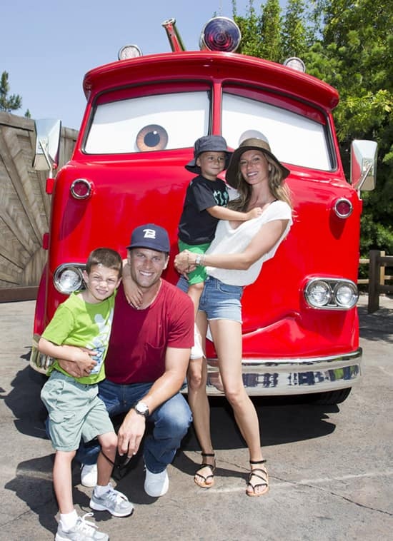 Tom Brady, Gisele Bundchen and Family Visit Disney California Adventure Park