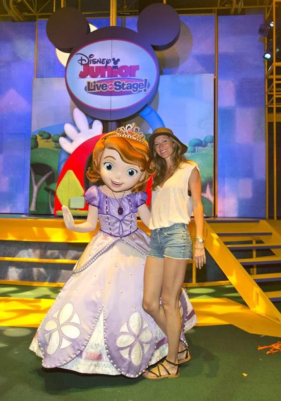 Gisele Bundchen and Princess Sofia at Disney California Adventure Park