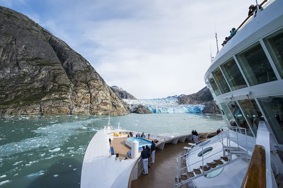 View of Tracy Arm Fjord From the Upper Deck