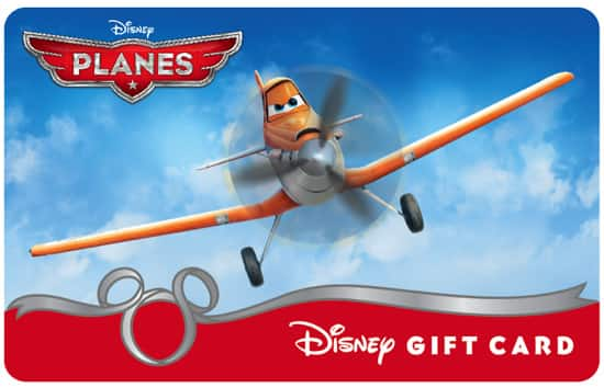 Disney Gift Card 'Planes' Design