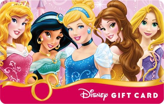 Disney Gift Card New Princess Design