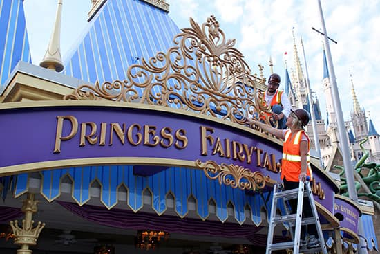 Sneak Peek: Princess Fairytale Hall Marquee is Unveiled at Magic Kingdom Park