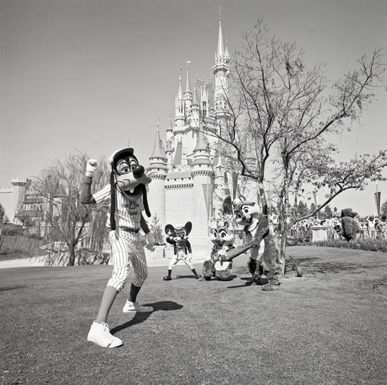 Goofy, Mickey, Chip and Dale are Ready for a Game of Baseball Outside Cinderella Castle at Magic Kingdom Park