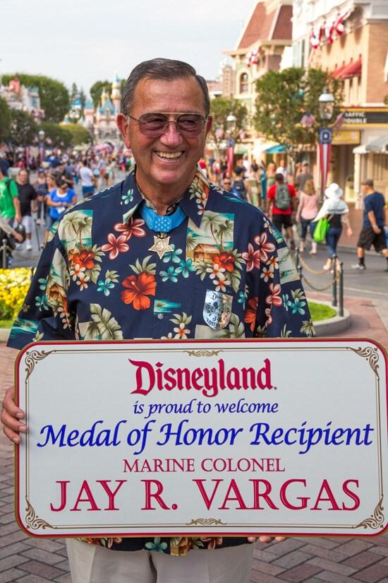 Disneyland Resort Honors Medal of Honor Recipient Jay R. Vargas